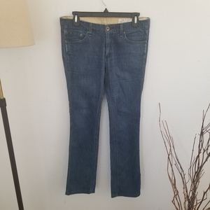 Rag & Bone Silk Blend Straight Leg Jeans